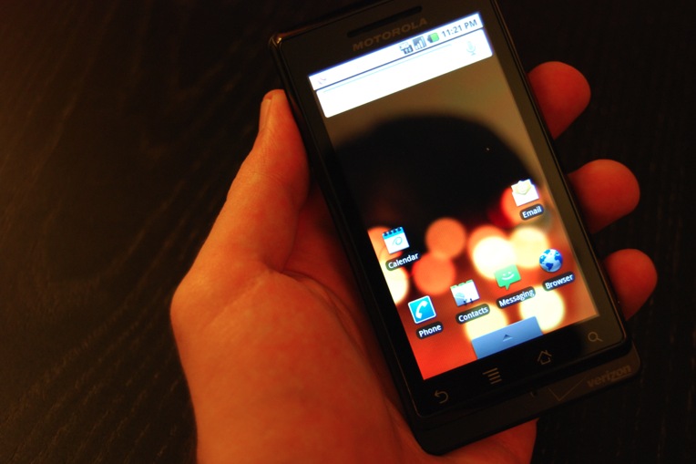 Motorola Droid - Held in hand