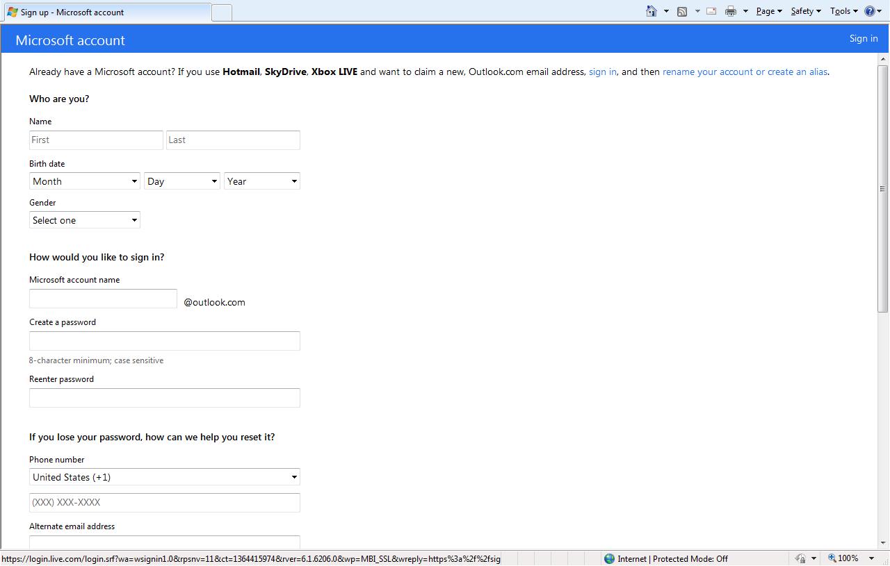 Hotmailcom email address sign up