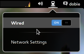 Network settings in GNOME 3.8
