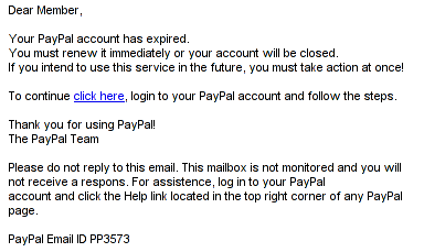 spam email: rendered