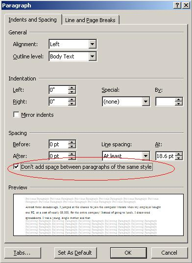 Tips For Wrapping Text Around A Word Table Techrepublic - How To Set Paragraph Spacing In Word Table