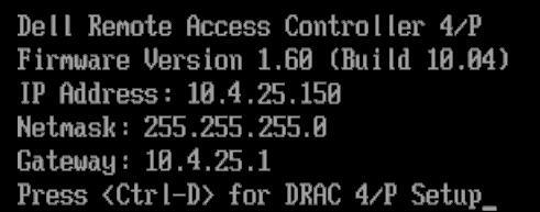 DRAC initialization