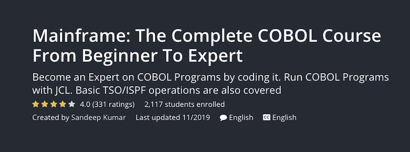 Mainframe The Complete COBOL Course