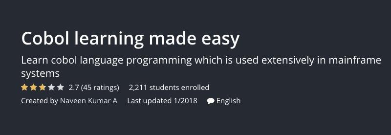 Cobol learning made easy