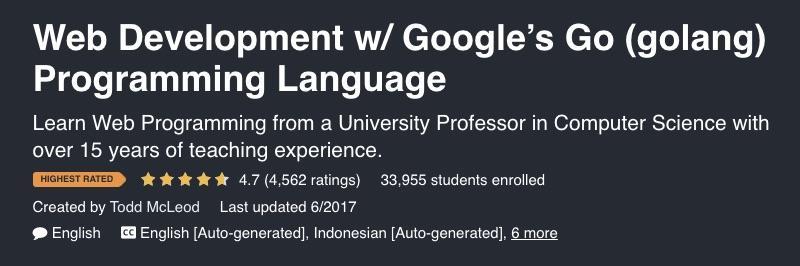 Web development with Google Go
