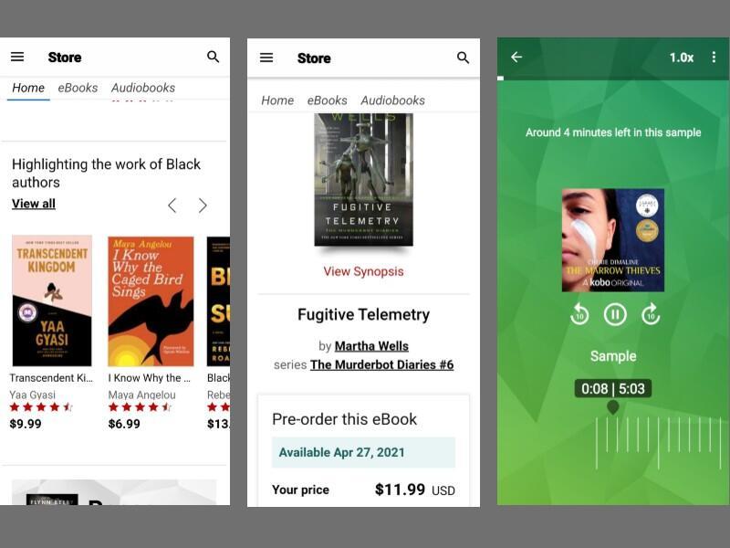 kobo application screenshots